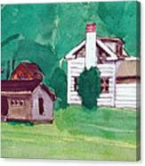 Murray Hill Watercolor Canvas Print