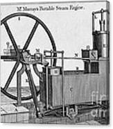 Murrays Portable Steam Engine, 19th Canvas Print