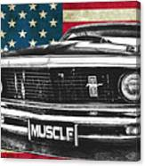Muscle Us Mustang Canvas Print