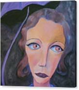 Muse And Umbrella Canvas Print
