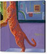 Museum Cat Canvas Print