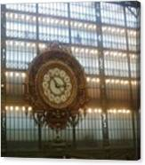 Museum D'orsay Clock Canvas Print