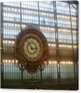 Museum D'orsay Clock Canvas Print