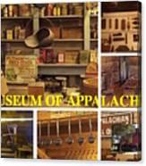 Museum Of Appalachia Block Collage Canvas Print
