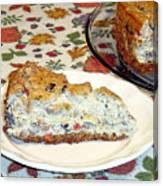 Mushroom And Crab Savory Cheesecake Canvas Print