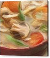 Mushroom And Vegetable Soup Canvas Print