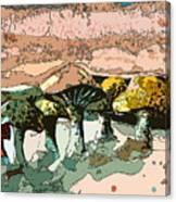 Mushroom Rows Canvas Print