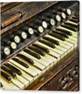 Music - Pump Organ - Antique Canvas Print