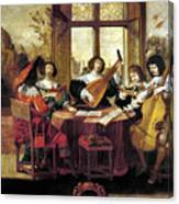Music, 17th Century Canvas Print