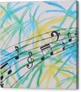 Music Burst Canvas Print