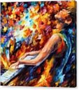 Music Fight Canvas Print