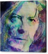 Music Icons - David Bowie Ill Canvas Print