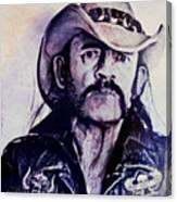 Music Icons - Lemmy Kilmister Iv Canvas Print