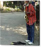 Music In Tompkins Square Canvas Print