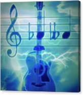 Music Is Everything Lightning Canvas Print