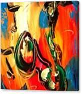 Music Jazz Saxophone Canvas Print