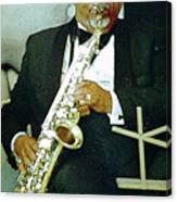 Music Man Saxophone 2 Canvas Print