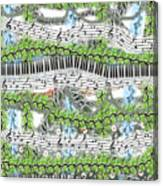 Musical Abstract Canvas Print