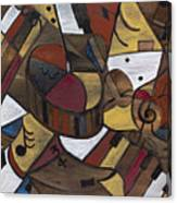 Musicality In Brown Canvas Print