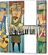Musician Trio Canvas Print