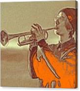 Musician Youth Canvas Print