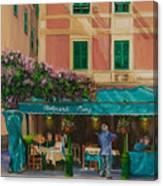 Musicians' Stroll In Portofino Canvas Print
