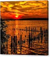 Muskegon Sunset Canvas Print