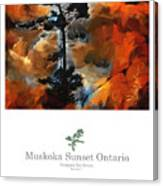 Muskoka Autumn Sunset Northern Ontario Poster Series Canvas Print