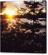 Muskoka Lake Of Bays Sunrise Canvas Print