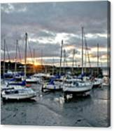Musselburgh Marina In The Sunset. Canvas Print