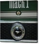 Mustang Mach 1 Emblem Canvas Print