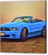Mustang Ocean Shores Beach Canvas Print