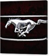Mustang Pony Logo Canvas Print