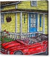 Mustang Sallys' Place Canvas Print