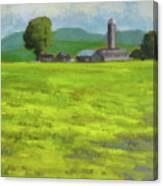 Mustard Fields Indiana Canvas Print