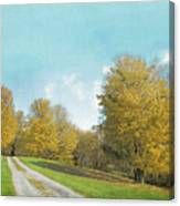 Mustard Yellow Trees And Landscape Canvas Print
