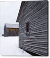 Musterfield Farm North Sutton Nh Old Buildings In The Snow Canvas Print