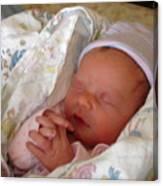 My Baby Prays Canvas Print