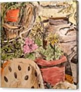 My Back Porch Partial Canvas Print