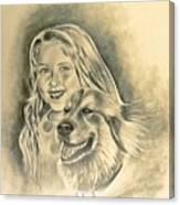 My Best Friend Canvas Print