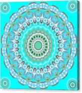 My Blue Heaven Mandala Canvas Print
