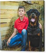My Brother And The Dog 2 Canvas Print
