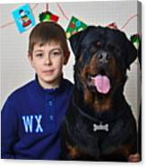 My Brother And The Dog Canvas Print