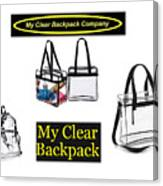 My Clear Backpack Canvas Print