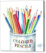 My Colored Pencils Canvas Print