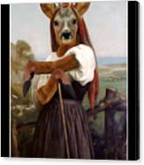 My Deer Shepherdess Canvas Print