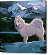 My Dog Blizzard . Canvas Print