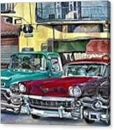 My Fathers' Cars Canvas Print