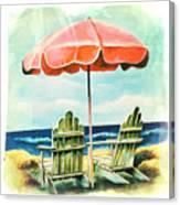My Favorite Secret Beach Spot Canvas Print