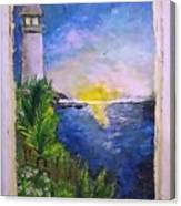 My First Light House Canvas Print